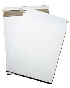 Cardboard Envelopes - WHITE Paperboard Mailers (13-x-18) - 100 PK