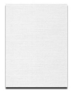 Neenah CLASSIC LINEN 8.5 x 11 Card Stock - Recycled 100 Bright White - 80lb Cover - 250 PK