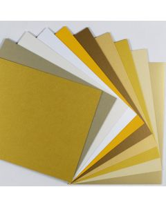 Crafters Pure Hues - Shades of GOLD 8.5 x 11 - (Cardstock) Mix Finish (10 colors / 5 each) - 50 PK