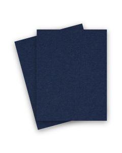 BASIS COLORS - 8.5 x 11 CARDSTOCK PAPER - Navy - 80LB COVER - 25 PK