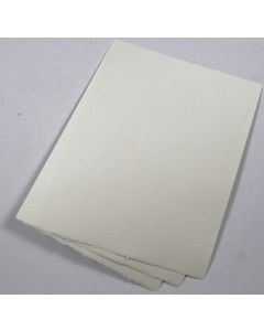 Natural White Deckled Edge Paper