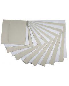 Square Envelopes VARIETY Basics (8 sizes / 2 colors / 2 each) - 32 PK