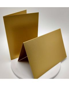 FAV Shimmer Pure Gold - A7 Folded Cards - 92lb Cover (250gsm) Shimmer Metallic - 25 PK