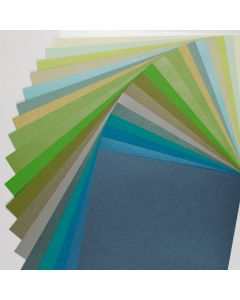 Crafters Pure Hues - Shades of GREEN 8.5 x 11 - (Text) MIX Finish (20 colors / 3 each) - 60 PK
