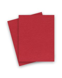 BASIS COLORS - 8.5 x 11 CARDSTOCK PAPER - Red - 80LB COVER - 25 PK