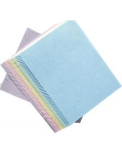 Crafters Pure Hues - Pastel Shades 8.5 x 11 - (CARDSTOCK) Mixed Finish (5 colors / 10 each) - 50 PK