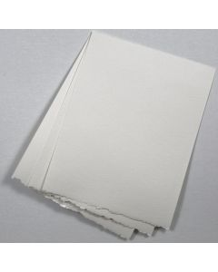 Soft White Deckled Edge Paper