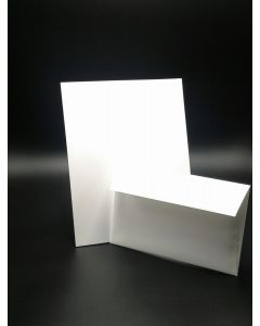 [Clearance] White Linen Cardstock and A9 Envelope Set - 10 in a set