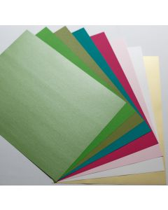 Crafters Tropics Mix - Text Papers - (8 colors / 5 each) 40 sheets