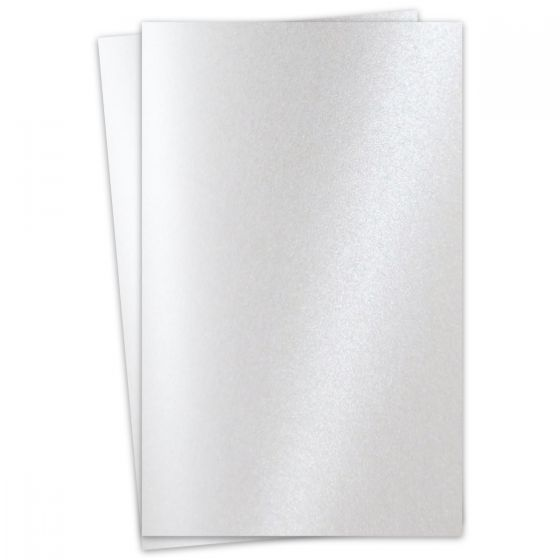 FAV Shimmer Pure Snow White - 11 x 17 Card Stock Paper - 92lb Cover (250gsm) - 100 PK