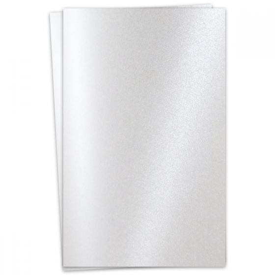 FAV Shimmer Pure Snow White - 12 x 18 Card Stock Paper - 92lb Cover (250gsm) - 100 PK