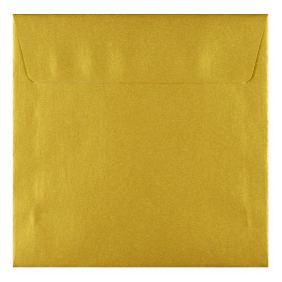 FAV Shimmer Premium Gold - 6.6 in (17X17cm) Square Envelopes (81T/Peel-Stick Flap) - 25 PK