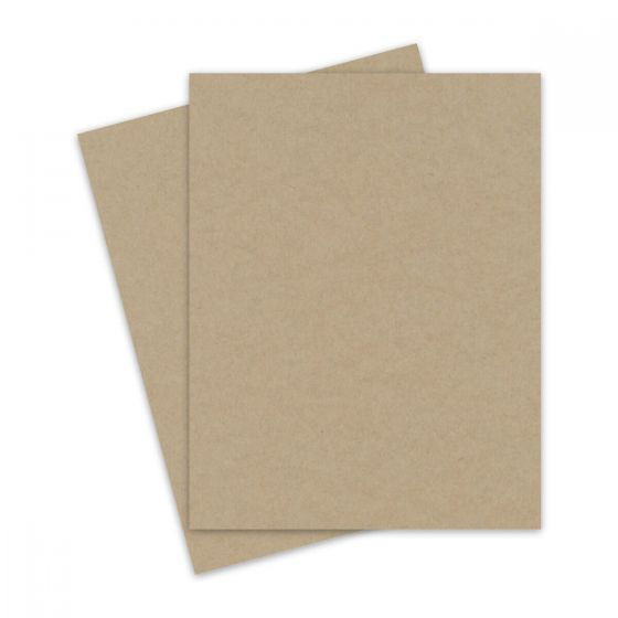 Light Rustic Kraft - 8.5X11 Letter Size Text Paper 32/81lb Text (120gsm) - 25 PK