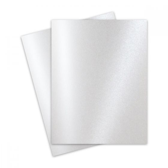 FAV Shimmer Pure Snow White - 8.5 x 11 Card Stock Paper - 92lb Cover (250gsm) - 100 PK