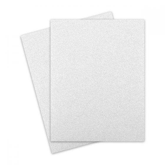 Glitter Paper - Glitter WHITE (1-Sided) 8.5X11 Letter Size - 10 PK