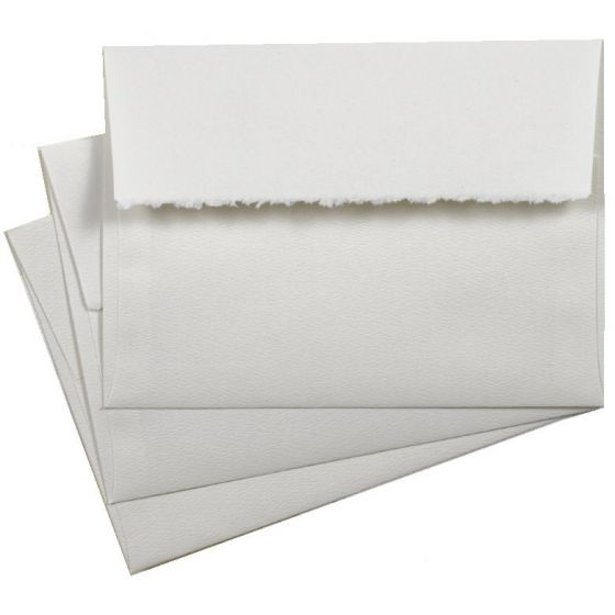 Bright White A7 deckled flap envelopes