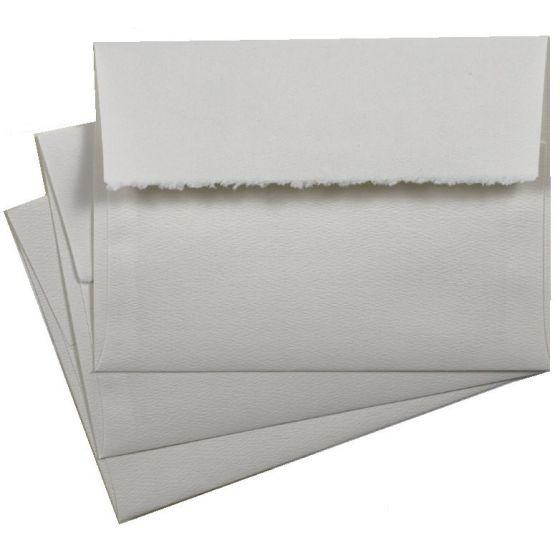 Deckled edge envelopes A7 soft white