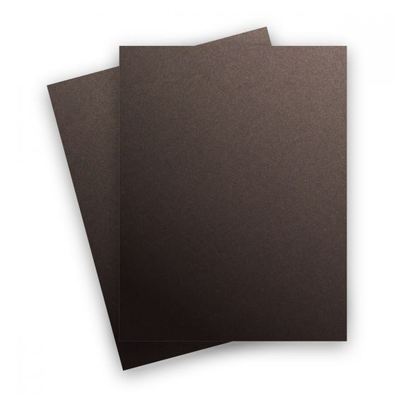 Curious Metallic - CHOCOLATE 8.5X11 Letter Size Card Stock Paper 111lb Cover - 25 PK