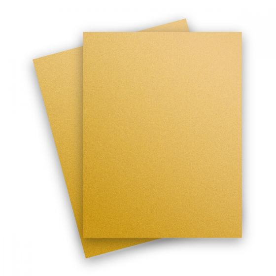 Curious Metallic - SUPER GOLD 8.5X11 Letter Size Card Stock Paper 111lb Cover - 25 PK