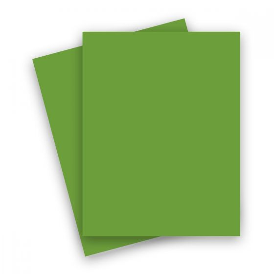 French Paper - POPTONE Gumdrop Green - 8.5X11 (65C/175gsm) Lightweight Card Stock Paper - 25 PK