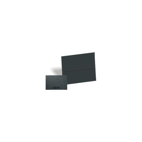 [Clearance] Stardream Metallic - A8 Envelopes (5.5-x-8.125) - ONYX - 25 PK