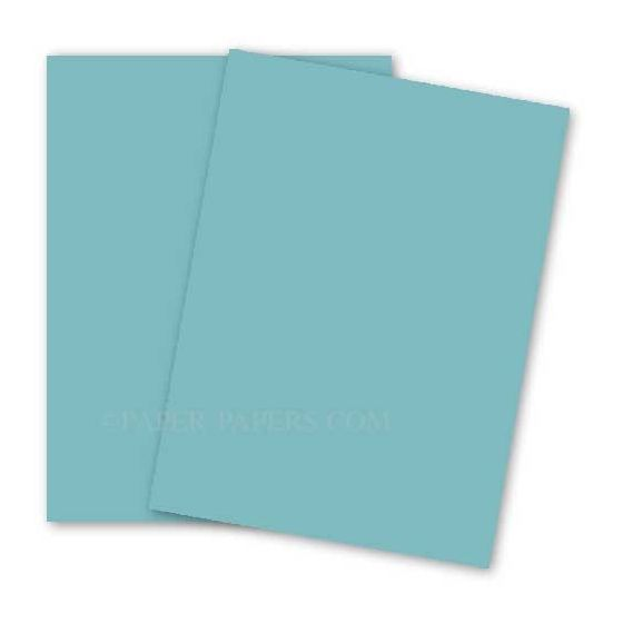 BASIS COLORS - 11 x 17 CARDSTOCK PAPER - Aqua - 80LB COVER - 100 PK