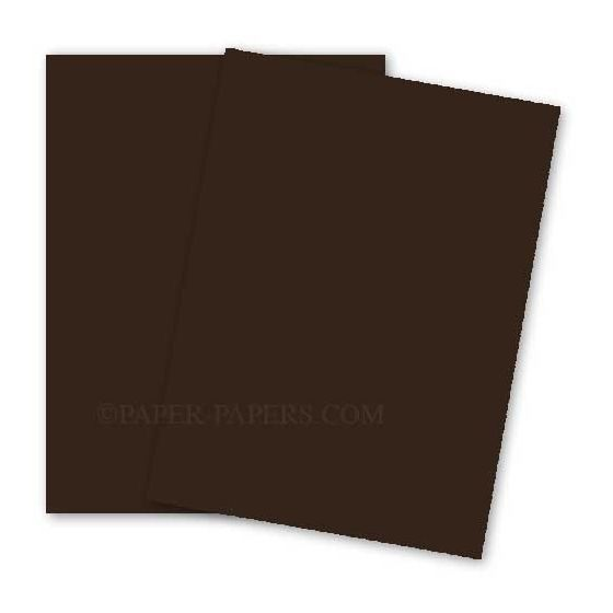 BASIS COLORS - 12 x 18 CARDSTOCK PAPER - Brown - 80LB COVER - 100 PK