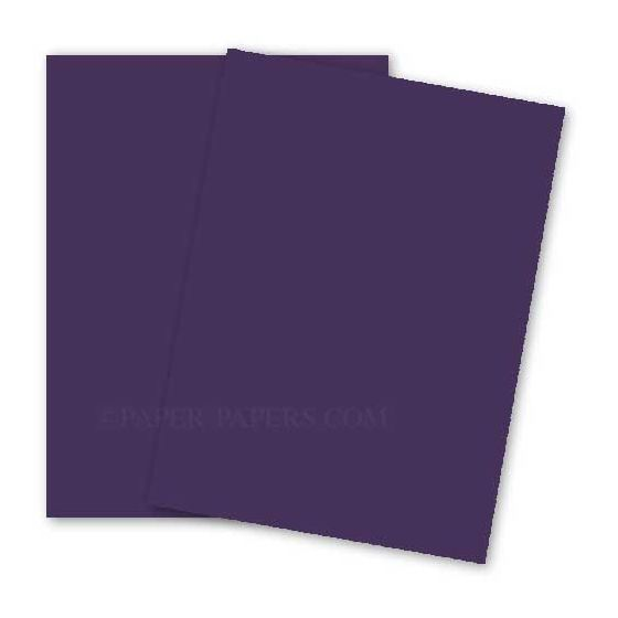 BASIS COLORS - 11 x 17 CARDSTOCK PAPER - Dark Purple - 80LB COVER - 100 PK