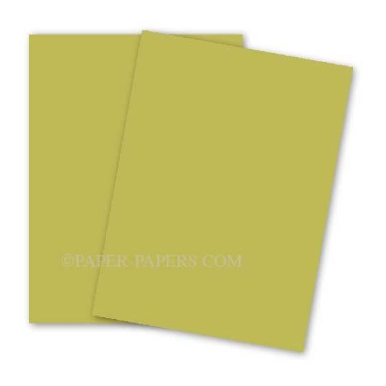 BASIS COLORS - 8.5 x 11 CARDSTOCK PAPER - Golden Green - 80LB COVER - 100 PK