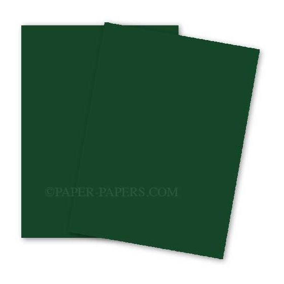 BASIS COLORS - 8.5 x 11 CARDSTOCK PAPER - Green - 80LB COVER - 100 PK