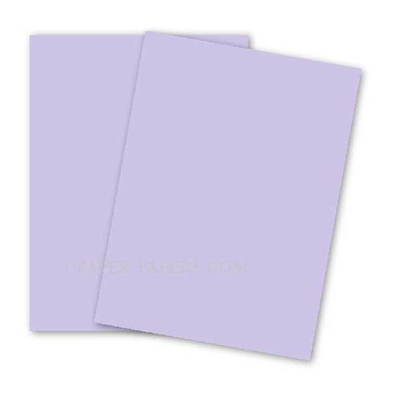BASIS COLORS - 11 x 17 CARDSTOCK PAPER - Light Purple - 80LB COVER - 100 PK