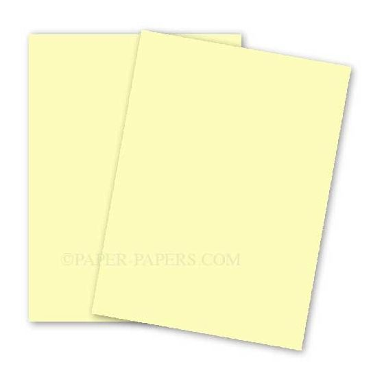 BASIS COLORS - 12 x 18 CARDSTOCK PAPER - Light Yellow - 80LB COVER - 100 PK