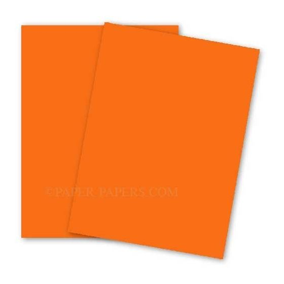 BASIS COLORS - 26 x 40 CARDSTOCK PAPER - Orange - 80LB COVER - 100 PK