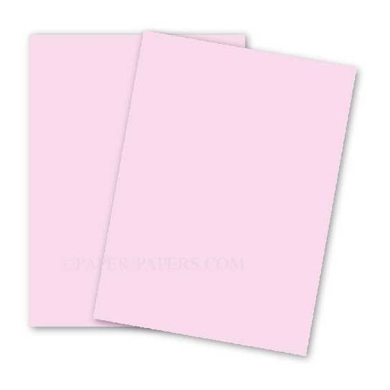 BASIS COLORS - 8.5 x 14 CARDSTOCK PAPER - Pink - 80LB COVER - 100 PK