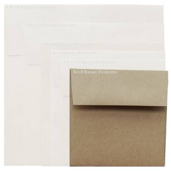 Brown Bag Envelopes - KRAFT - 5 in Square Envelopes - 200 PK