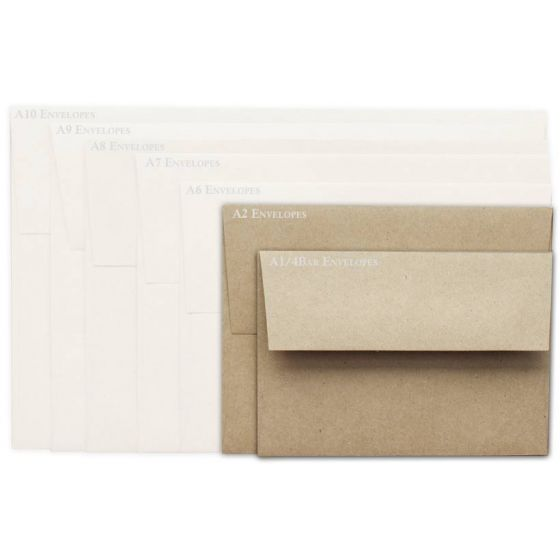 Brown Bag Envelopes - KRAFT - A2 Envelopes - 50 PK