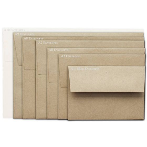 Brown Bag Envelopes - KRAFT - A9 Envelopes - 50 PK