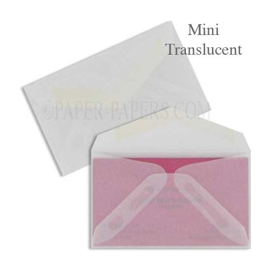 MINI Envelopes - 50 PK - Professional MINI (2.125-in x 3.625-in) - 29# Clear Translucent
