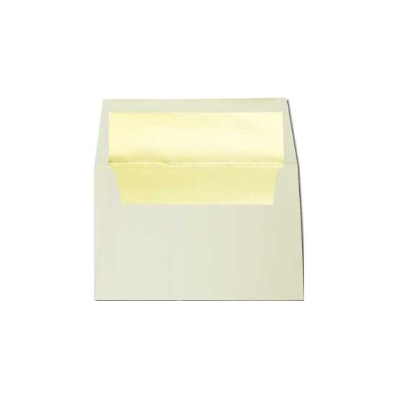 A8 FOIL LINED Envelopes - Classic Crest Natural White Envelopes with Gold Foil - 50 PK
