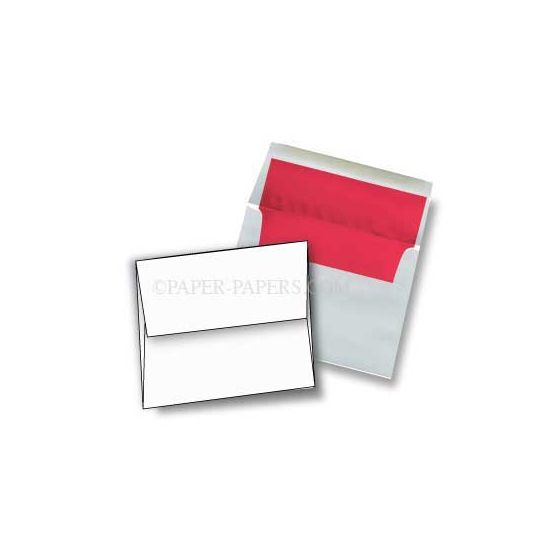 A7 FOIL LINED Envelopes - Ultrawhite 70T Envelopes with Red Foil Lining - 250 PK