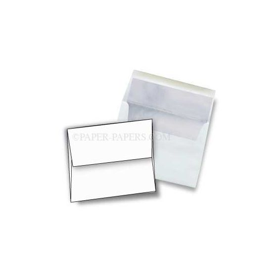 [Clearance] A8 FOIL LINED Envelopes - Ultra White (80T) Envelopes with Silver Foil Lining - 250 PK