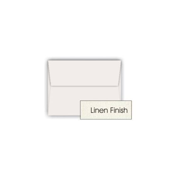 Classic LINEN Natural White (80T/Linen) - A10 Envelopes (6-x-9.5) - 250 PK