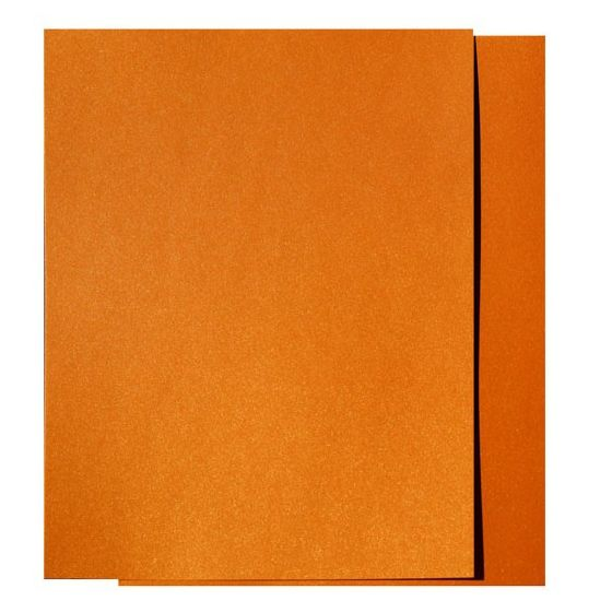 FAV Shimmer Orange Gold Fusion - 8.5 x 14 Legal Size Card Stock Paper - 107lb Cover (290gsm) - 150 PK