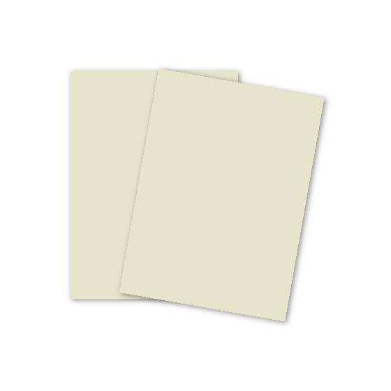 Domtar Colors - Earthchoice CREAM Cover - 8.5 x 11 Card Stock Paper - 65lb Cover - 250 PK