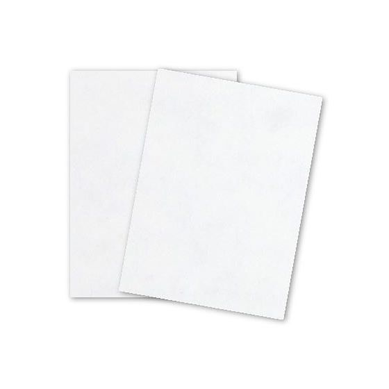 Parchtone WHITE - 8.5 x 11 Parchment Card Stock - 80lb Cover - 25 PK