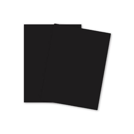 Basic BLACK Card Stock Paper - 8.5 x 11 - 100lb Cover (270gsm) - 100 PK
