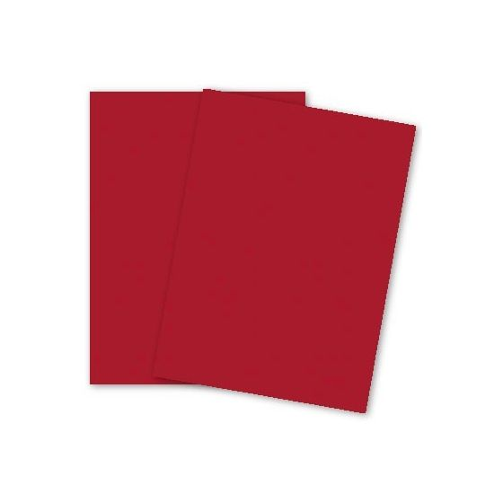 French Paper - POPTONE Wild Cherry - 8.5X11 (65C/175gsm) Lightweight Card Stock Paper - 25 PK