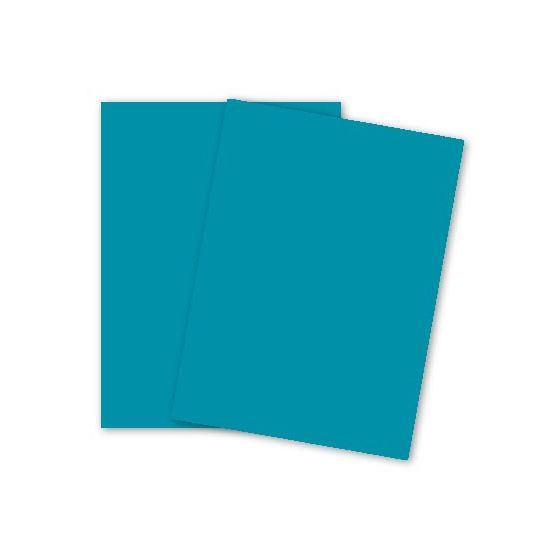 Mohawk BriteHue - SEA BLUE - 8.5 x 11 Card Stock Paper - 65lb Cover - 2000 PK