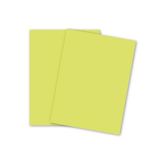 Mohawk BriteHue - ULTRA LEMON - 8.5 x 11 Card Stock Paper - 65lb Cover - 2000 PK