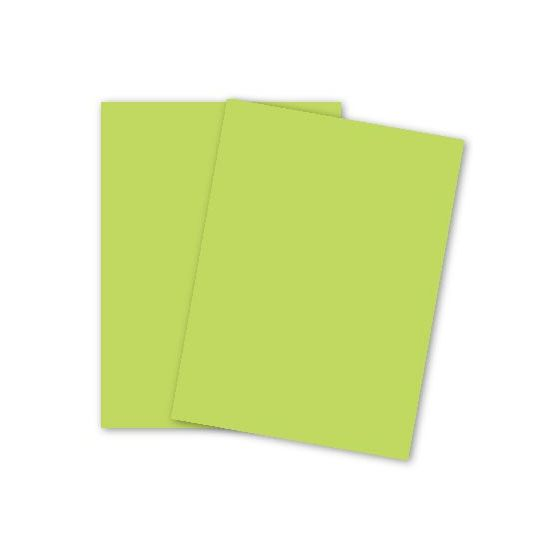 Mohawk BriteHue - ULTRA LIME - 11 x 17 Card Stock Paper - 65lb Cover - 250 PK
